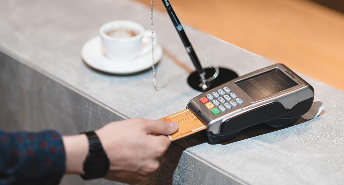 Loan secured with POS machine transaction income